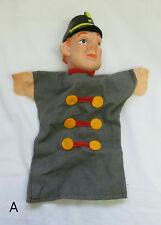 RARE Vintage German Hand Puppet Guard Soldier Conductor Theater Vinyl Cloth
