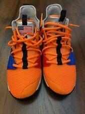 New listing NIKE Paul George Orange NASA SIze 7 EUC Tennis Shoes - No Box