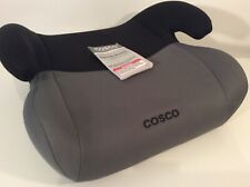 Cosco Black and Grey Topside Backless Booster Car Seat with Instructions