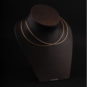 Georg Jensen Gold Neckring, Alliance # 1554. 18 Ct. Design: Allan Scharff. NEW!