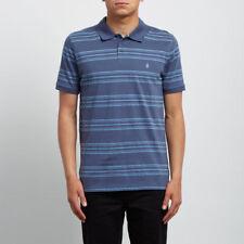 Volcom Wowzer Stripe Polo Deep Blue m