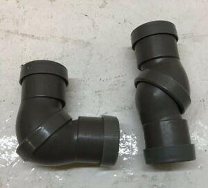 "4x Compacct 32mm 1 1/4"" Adjustable Swivel Plastic Plumbing Waste Bend Push Fit"