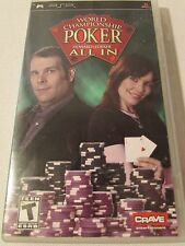 PSP World Championship Poker All In  Game with Case PlayStation Portable