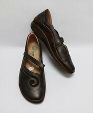 Naot Shoes Matai Comfort Mary Janes Brown Black Israel Womens Size US 7 EU 38