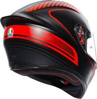 Casco integrale moto gp AGV K-1 Warmup matt black/red