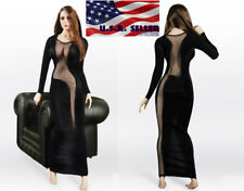 "1/6 Sexy See Thru Evening Dress For 12"" PHICEN Hot Toys Female Figure ❶USA❶"