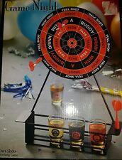 New Game Night Dart Board Drinking Shot Game w/Darts, Shot Glasses & Dart Board