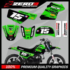 YAMAHA PW50 MOTOCROSS MX GRAPHICS DECAL KIT MUSCLE MILK BLACK / GREEN