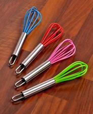 Set Of 4 Mini Silicone Whisks Cooking Utensils Kitchen Food Preparation Tools