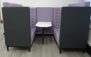 Frovi Jig Cave Lilac & Grey Seating Booth