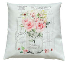 *SALE* French Roses - 40cm Ivory cushion cover botanical/shabbyFrench country