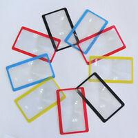 3X Taschenlupe Vergrößerungswerkzeug Lesen Kreditkarte Brieftasche Clip Lupe XU