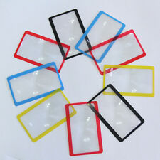 3X Pocket Magnifier Magnifying Tool Reading Credit Card Wallet Clip Loupe WKCA