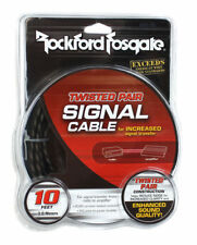 Rockford Fosgate RFI-10 10' Feet Twisted 2 Ch RCA Car Audio Signal Cable RFI10