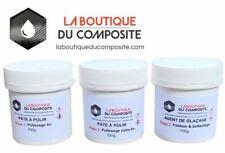 Kit de finition, polissage et brillantage, des stratifiés polyester ou époxy.