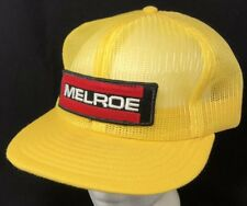 06ac5dd16a0a4 Vtg 80s Mesh Trucker Hat Snapback Patch Cap Louisville USA Melroe Clark Farm