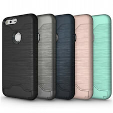 Shockproof Ultra Thin Hybrid Rugged Card Holder Case Cover For Google Pixel XL
