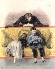 ❤️ 1838-1842 Gavarni Les enfants terribles 49 lithographies + 8 lithos couleurs