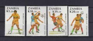 s6556) ZAMBIA 1990 MNH** WC Football'90-CM Calcio 4v
