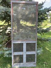 Antique Vintage Wood Screen Storm Door