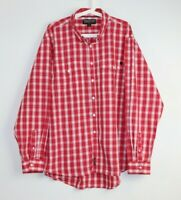 Thomas Cook Men's Red Check Oxford Collar Button Down Long Sleeve Shirt Size XXL