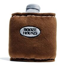 Booze Hound Flask Squeaker Dog Toy Plush