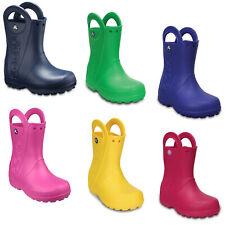 Crocs Handle It Wellington Boots Kids Boys Girls Waterproof Pull On Rain Shoes