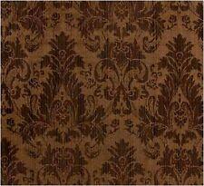 "Chocolate Brown Faux Silk Damask Jacquard 56""W FABRIC DRAPE UPHOLSTERY CRAFT"