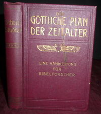 Jehovah's Witnesses Eschatology 1912 German 1stEd Watch Tower Charles T Russell