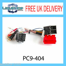 PC9-404 AUDI A2 A3 A4 A6 A8 AMPLIFIED RCA to ISO LEAD HALF AMLIFIED SYSTEMS CAR