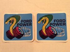 Vintage 2 (two) NOS Decals Ford Power Mustang Cobra Boss Muscle Coyote Shelby