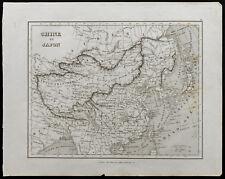 Carte ancienne de 1836c : Chine et Japon - Carte géographique de Monin