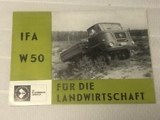 IFA W50 Prospekt DDR Landwirtschaft SELTEN