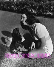 LUPE VELEZ 8x10 Lab Photo B&W 1930s SINGING WITH HER ADORABLE Dog Portrait