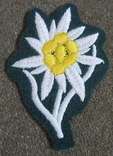 WWII GERMAN HEER ARMY NCO GERBIRGSJAGER MOUNTAINEER CAP PATCH-BOTTLE GREEN