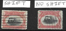 Sc #295 Pair Color Shift Low Train EFO Expo Cancel Pan Am 2 Cent US 85B11