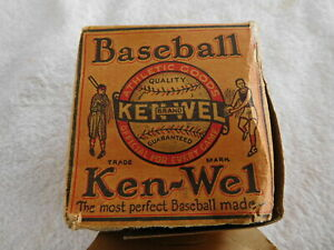 Ken-Wel ~1920's Baseball in the original Box - Official Major League Ball - MINT