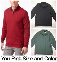 $75 Tasso Elba Men's 100% Cotton Textured Quarter Zip Mock Neck Sweater