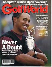 GOLF WORLD MAGAZINE JULY 22, 2005, VOL. 59 #5 TIGER WOODS WINS AT ST. ANDREWS