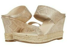 Matisse Flora Women's Gold Snake Leather Sandals Size 9M
