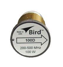 Bird 100D Plug-in Element 0 to 100 watts 200-500 MHz for Bird 43 Wattmeters