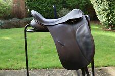 "Black Country 17.5"" Narrow Black Dressage Saddle"