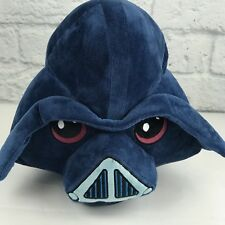 "Angry Birds Star Wars Plush Pillow Darth Vader 12"" Large Blue Pig Plush EUC"