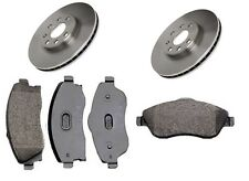 Brake Pads and Discs X2 Set Front Vented Fits Vauxhall Combo Tour Mk II 2001-12