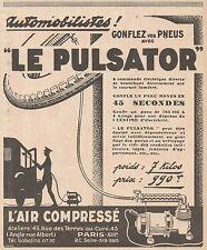 Z9012 L'Air Compressé LE PULSATOR -  Pubblicità d'epoca - 1928 Old advertising