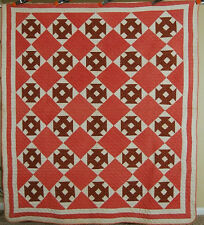HANDSOME 1880's Vintage Churn Dash Antique Quilt ~MINT, UNUSED CONDITION!