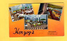 Washington DC Herzog's Restaurant-Famous for Sea Food used 1958
