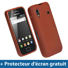 Rouge Coque Gel TPU pour Samsung Galaxy Ace S5830 Android Housse Etui Case Cover
