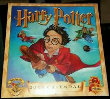 HARRY POTTER OFFICIAL 2001 HOGWARTS AND GRYFFINDOR CALENDAR SEALED