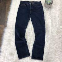J Brand Women's Jeans Dark Wash Straight Leg 5 Pocket Mid Rise Denim - Size 27